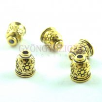 Gyöngykupak - arany színű - 11x9mm