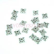 Gyöngykupak - platina színű - Leaves - 5mm