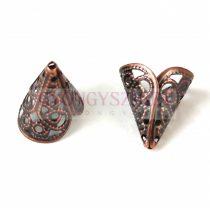 Gyöngykupak - vörösréz színű - 17x15mm