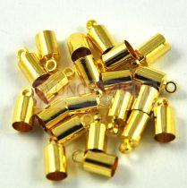 Végzáró - arany színű - 6x10mm