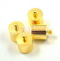 Végzáró - arany színű - 11x14mm