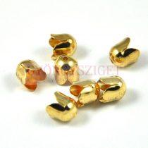 Gyöngykupak - arany színű tulipán - 8mm