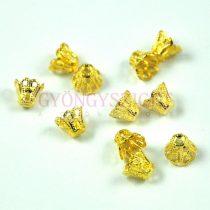 Gyöngykupak - arany színű korona - 5x5mm