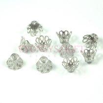 Gyöngykupak - platina színű korona - 8x10mm
