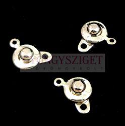 Patent kapocs - ezüst színű -8mm