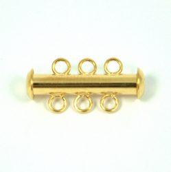 Csőkapocs - 3 lyukú - arany színű