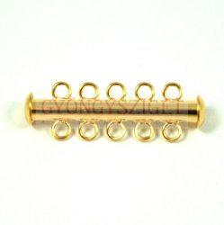 Csőkapocs - 5 lyukú - arany színű