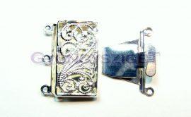 Kapocs - indás - ezüst színű