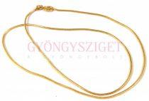 Ékszerlánc - kígyó - arany színű - 60 cm