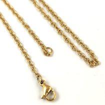 Ékszerlánc - sima - arany színű