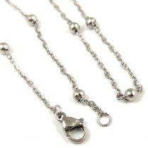 Ékszerlánc - sima - arany színű  - 2 x 4 x 0.8 mm