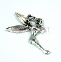 Medál - tündér - antik ezüst színű - 37mm