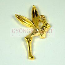 Medál - tündér - arany színű - 37mm