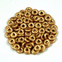 Cseh préselt O gyöngy - O-bead - aztec gold -1x4mm