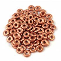 Cseh préselt O gyöngy - O-bead - Matt Metallic Copper -1x4mm