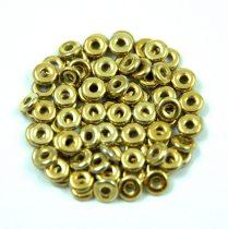 Cseh préselt O gyöngy - O-bead - crystal full amber -1x4mm