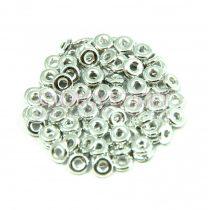 Cseh préselt O gyöngy - O-bead - ezüst -1x4mm