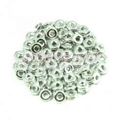 Cseh préselt gyöngy - O-bead - Silver - 1x4mm