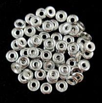 Cseh préselt O gyöngy - O-bead - kristály ezüst -1x4mm