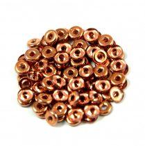 O-bead - Czech Glass Bead - crystal apollo -1x4mm