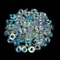 Cseh préselt O gyöngy - O-bead - kristály ab -1x4mm