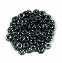 Cseh préselt O gyöngy - O-bead - hematit -1x4mm
