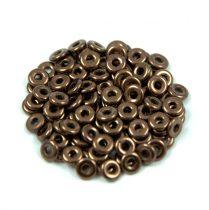 Cseh préselt O gyöngy - O-bead - sötét bronz -1x4mm