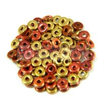 Cseh préselt O gyöngy - O-bead - California gold rush -1x4mm