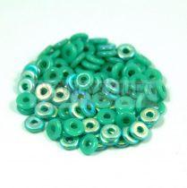 Cseh préselt O gyöngy - O-bead - türkiz zöld ab -1x4mm