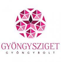 Porcelán gyöngy - 10x12mm - Barna virágos