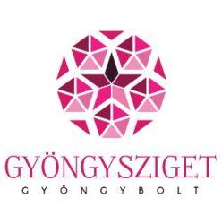 Porcelán gyöngy - golyó - 8mm - Sötét Kék virágos