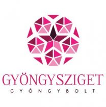 Porcelán gyöngy - golyó - 10mm - Violet Virág