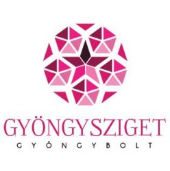Porcelán gyöngy - golyó - 8mm - Kék virágos