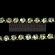 Strasszlánc - arany színű - Crystal - 4mm