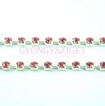 Strasszlánc - ezüst színű - Rose - 3mm
