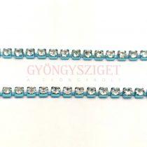 Strasszlánc - aqua színű - Crystal - ss6 - 2mm