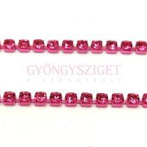 Strasszlánc - pink színű - Rose - ss6 - 2mm