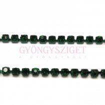 Strasszlánc - Emerald - ss6 - 2mm