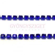 Strasszlánc - kék színű - Sapphire - ss6 - 2mm