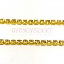 Strasszlánc - arany színű - Jonquil - ss6 - 2mm