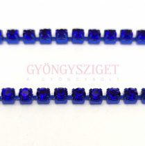 Strasszlánc - kék színű - Sapphire - ss12 - 3mm