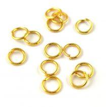 Szerelőkarika - arany színű - 5mm - 270