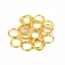 Szerelőkarika - zárt - arany színű - 6mm - 272