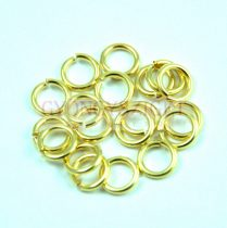 Szerelőkarika - arany színű - 6mm - 272
