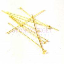 Szerelőpálca - szög - arany színű - 50mm - 50db
