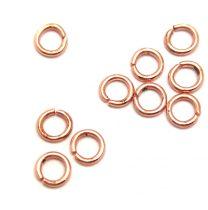 Szerelőkarika - rose gold színű - 4mm