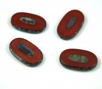 Cseh table cut gyöngy - hosszában fúrt - 13630-86800 - Chocolate Picasso - 26x15mm