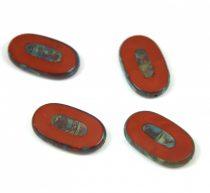 Cseh table cut gyöngy - hosszában fúrt - 13610-86800 - Brown Picasso - 26x15mm