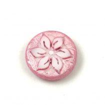 Cseh table cut gyöngy - hosszában fúrt - 93200-86800 - Red Picasso - 15mm