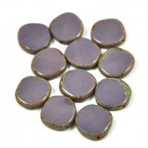 Cseh table cut gyöngy - hosszában fúrt - 23030-86800 - Purple Picasso - 15mm